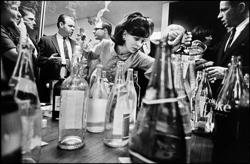 "A Magnum photograph of a 1966 holiday office party taken by Leonard Freed, from <a href=""http://todayspictures.slate.com/20101217/"">a fun series</a> recently featured on Slate."