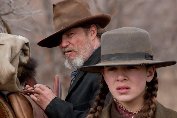 "Jeff Bridges and Hailee Steinfeld star in the Coen Brothers' remake of ""True ..."