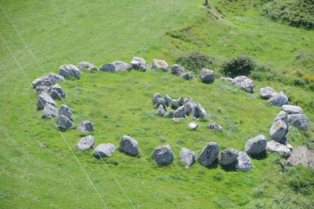 Tomb five at Carrowmore. Carrowmore is the largest cemetery of megalithic tom...