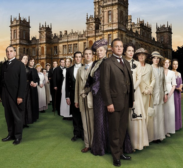 The cast from DOWNTON ABBEY. Created by Oscar-winning writer Julian Fellowes ...