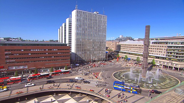 Modern Stockholm, Sweden. With nearly two million people in Stockholm's great...