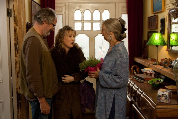 "Jim Broadbent, Lesley Manville, and Ruth Sheen in Mike Leigh's ""Another Year."""