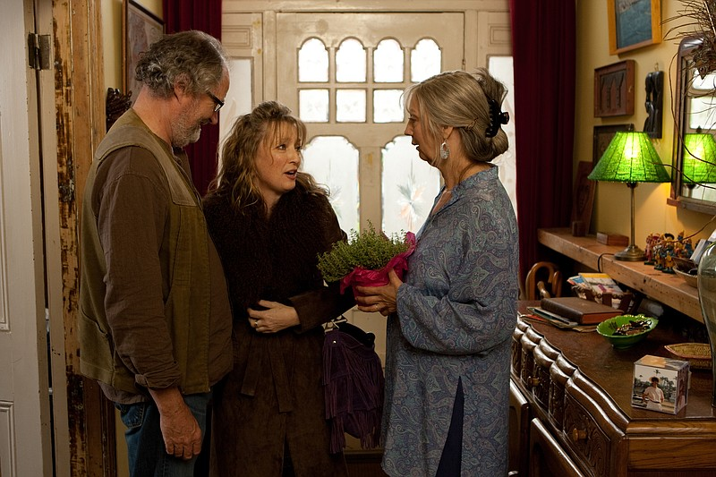 Jim Broadbent, Lesley Manville, and Ruth Sheen in Mike Leigh's