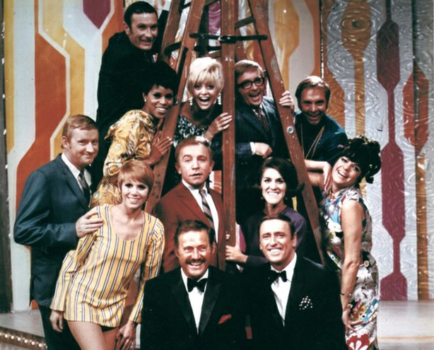 "The original cast members of George Schlatter's ""Laugh-In,"" one of the most r..."