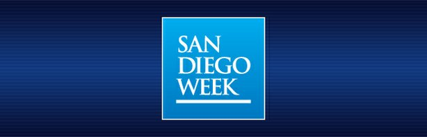 "Graphic logo for ""San Diego Week"""