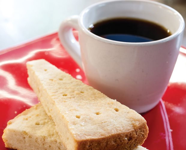 The best shortbread and a cup of coffee from the episode titled