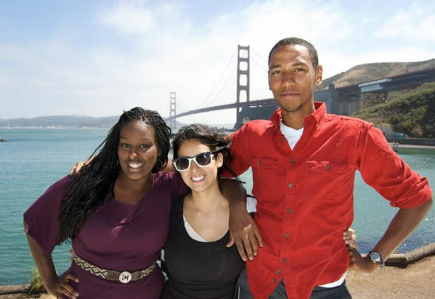 Tina, Vanessa and Calvin (Team Tabula Rasa) in San Francisco