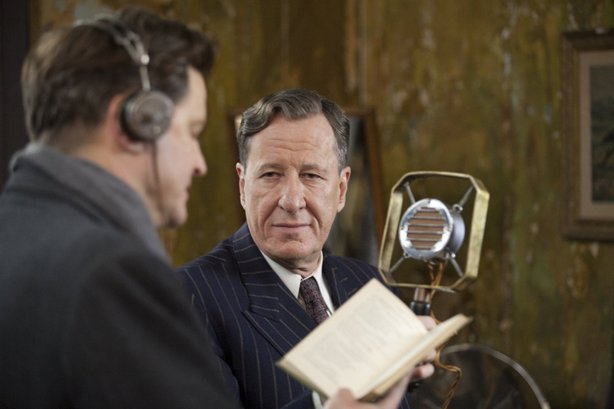 "Colin Firth and Geoffrey Rush in the Oscar-nominated ""The King's Speech."""
