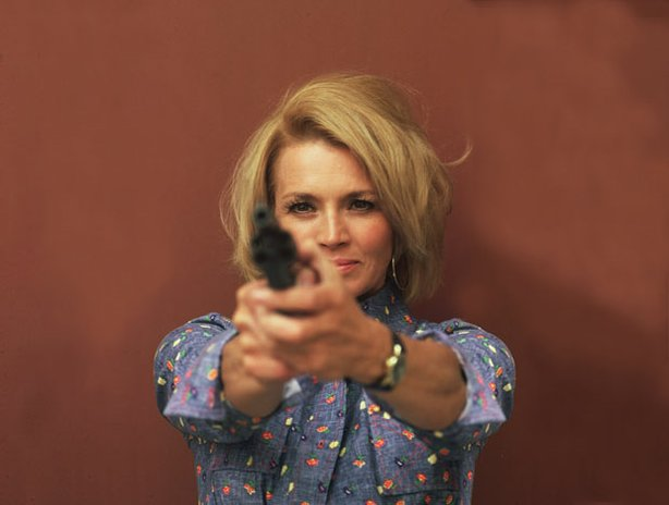 "Angie Dickinson as Sgt. ""Pepper"" Anderson in the award-winning series ""Police Woman."""