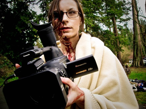 "Filmmaker Jen Soska at the helm of ""Dead Hooker in a Trunk,"" a film previously showcased at Bleedfest."