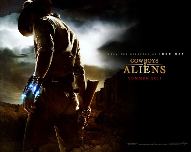 "A screensaver for the new film ""Cowboys and Aliens."""