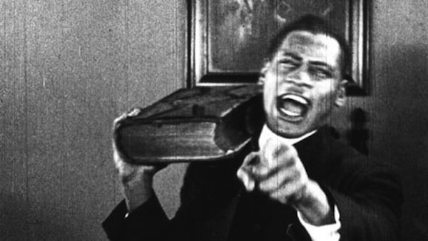 "Paul Robeson in Oscar Micheaux's ""Body and Soul."""