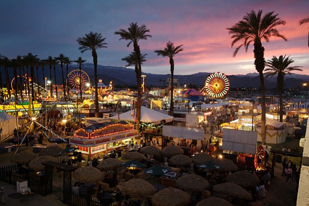 An aerial view of the Riverside County Fair and National Date Festival.