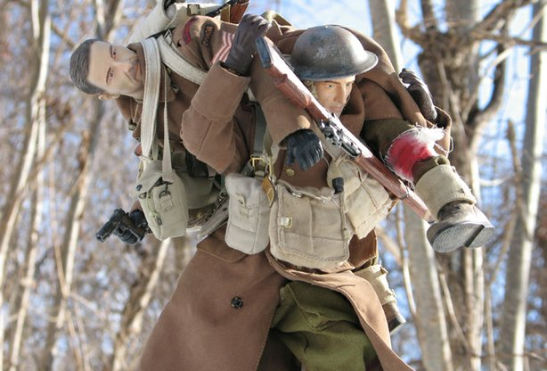 One of the photos taken by Mark Hogancamp of his one-sixth town Marwencol.