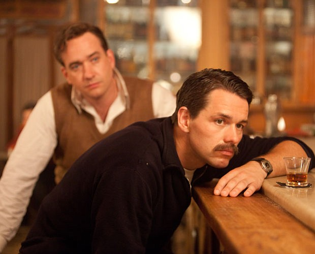 Matthew MacFadyen as Logan Mountstuart and Julian Ovenden as Ernest Hemingway...