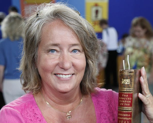 "At ""Antiques Roadshow"" in Des Moines, this guest learns an incomplete but genuine 1623 Shakespeare First Folio, part of the original published collection of William Shakespeare's plays, is estimated to have a significant worth of $40,000 to $50,000."