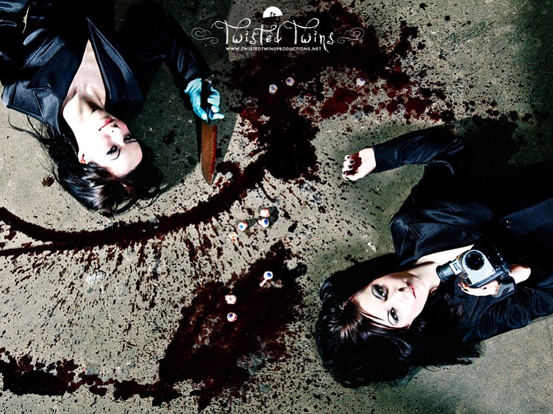 The filmmaking Soska Twins of Twisted Twins Productions.