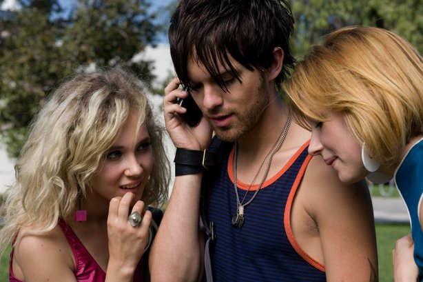 "The beautiful people ( Juno Temple, Thomas Dekker and Haley Bennett) at the center of ""Kaboom."""