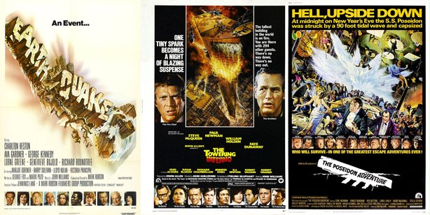 "Earthquake,"" ""Towering Inferno,"" and ""The Poseidon Adventure"" all screen toge..."