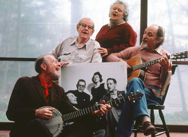Pete Seeger, Lee Hays, Ronnie Gilbert and Fred Hellerman of The Weavers