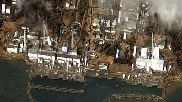 A DigitalGlobe satellite image received Wednesday shows damage after the Marc...