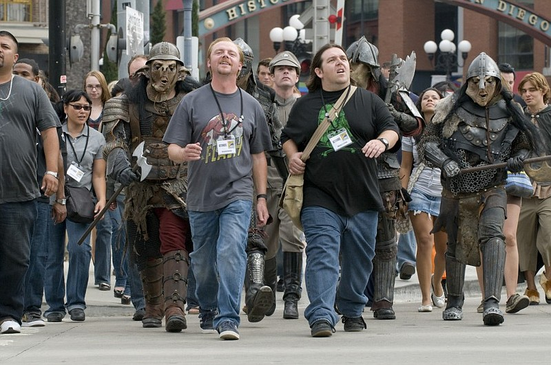 Simon Pegg and Nick Frost attend Comic-Con in the new movie
