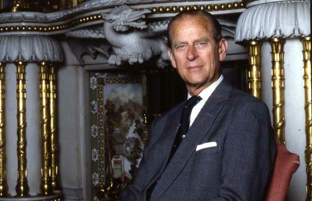 Portrait of HRH Prince Philip, The Duke of Edinburgh, taken in the chinese room in Buckingham Palace, 1992.