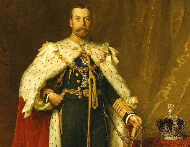 King George V in coronation robes, 1911.