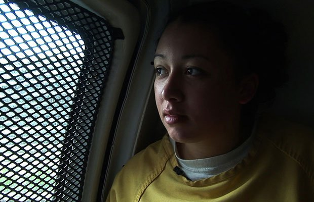 Cyntoia Brown rides to the courthouse during her criminal trial.