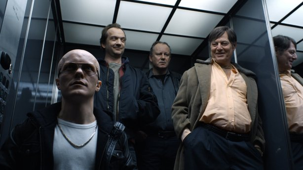 "Stellan Skarsgård (center) is a gangster of sorts in ""A Somewhat Gentle Man."""