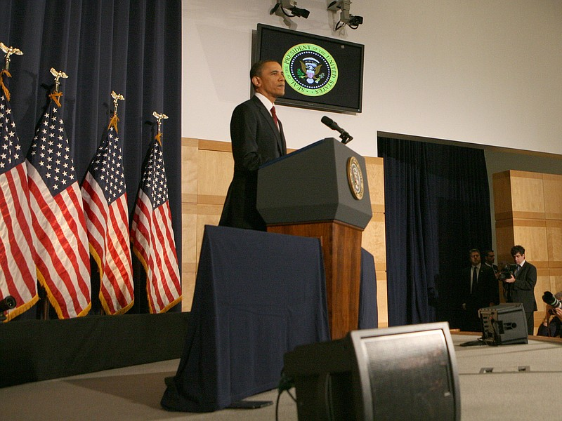 President Barack Obama speaks about U.S. military action in Libya March 28, 2...