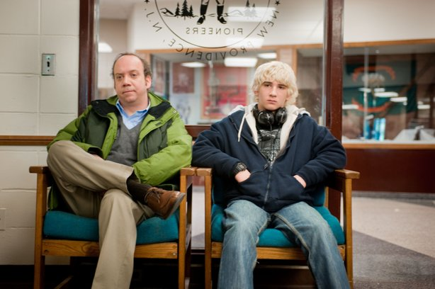"Paul Giamatti and Alex Shaffer star in ""Win Win."""