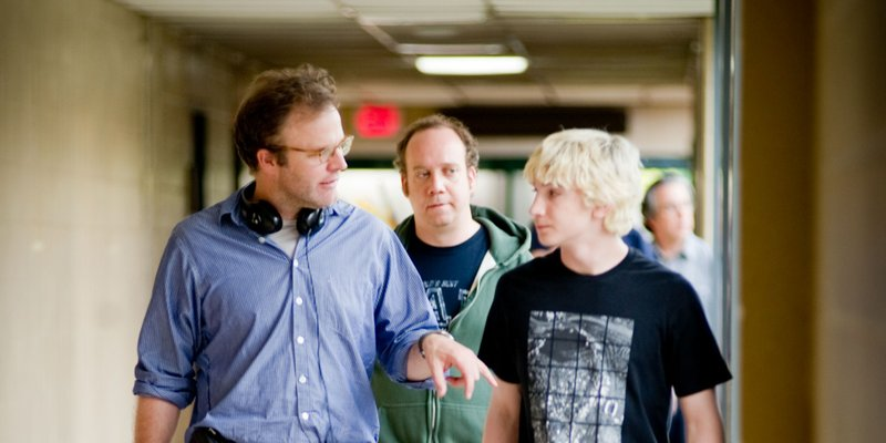 Director Tom McCarthy, and actors Paul Giamatti and Alex Shaffer.