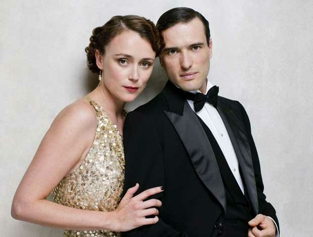 "Keeley Hawes as Lady Agnes Holland and Ed Stoppard as Sir Hallam Holland in ""Upstairs Downstairs."""