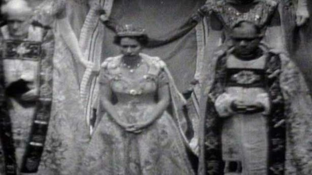 Photo of the Coronation of Britain's Queen Elizabeth in 1953
