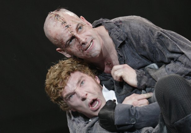 Jonny Lee Miller as the Creature and Benedict Cumberbatch as Victor Frankenst...