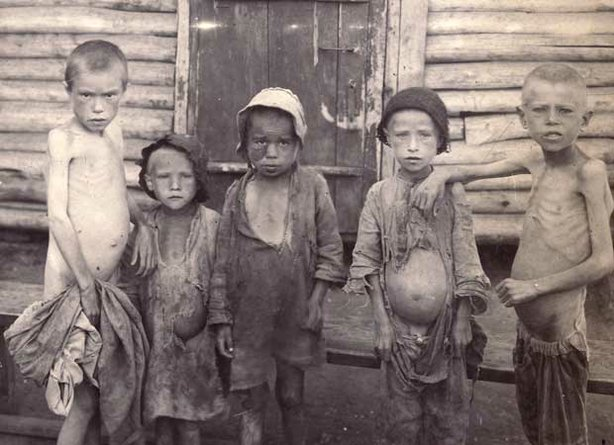 Five famine victims from Buzuluk, Russia. When a devastating famine descended...