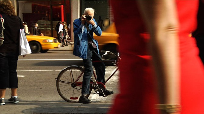 Bill Cunningham shooting on the streets of New York.