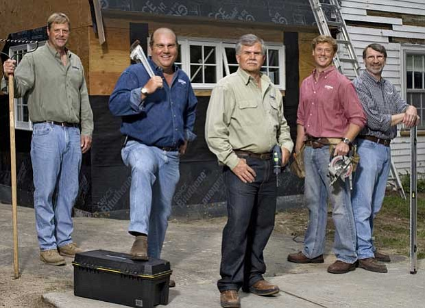 THIS OLD HOUSE crew: landscape contractor Roger Cook, plumbing and heating ex...