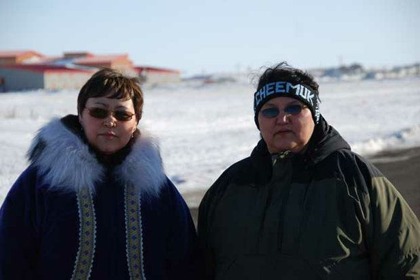 "Elsie Boudreau and Alberta Steve in St. Michael, Alaska from ""The Silence."""
