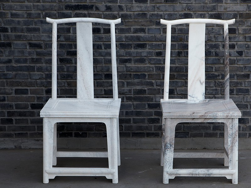 Two chairs from Chinese artist Ai Weiwei's