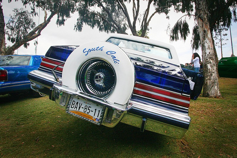 A low-rider on view at Chicano Park Day.