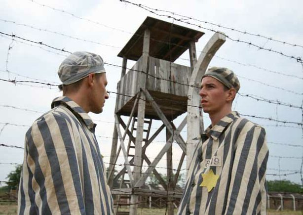"Actors portraying young Slovak Jews, Rudolph Vrba and Alfred Wetzler, in ""Escape From Auschwitz."""