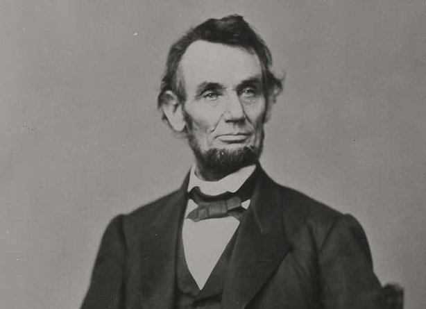 This photograph of Abraham Lincoln was taken by Anthony Berger at Mathew Brady's Washington gallery on February 9, 1864. This photograph was adapted for use as the face portrait on a five-dollar bill.