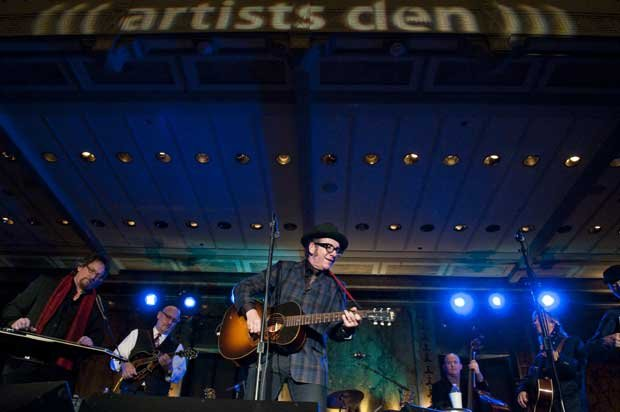 (l to r): Jerry Douglas, Mike Compton, Elvis Costello, Dennis Crouch, Jim Lau...