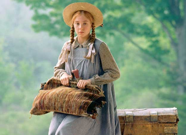 Megan Follows as Anne Shirley in the television series