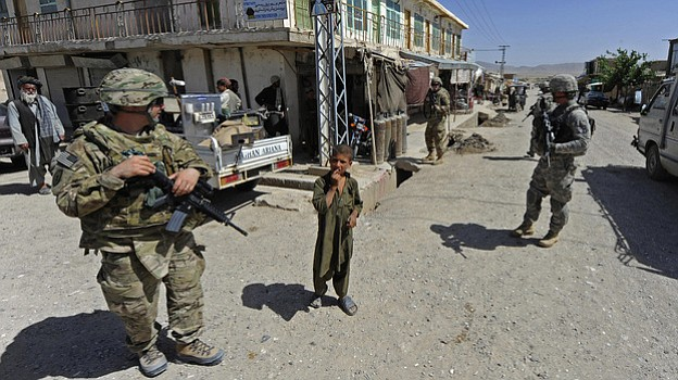 Members of Provincial Reconstruction Team Zabul and 1st Stryker Brigade Comba...