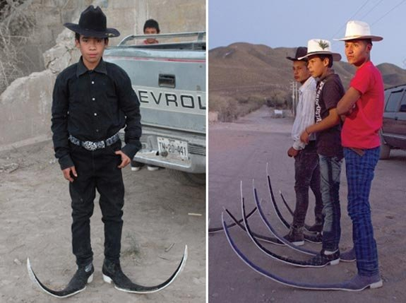 A dance crew from Buenavista in pointy boots.