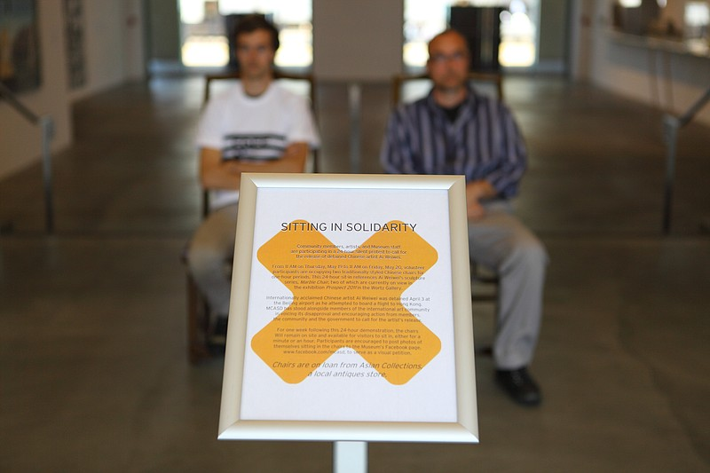 The Museum of Contemporary Art San Diego is hosting a 24-hour sit-in to prote...