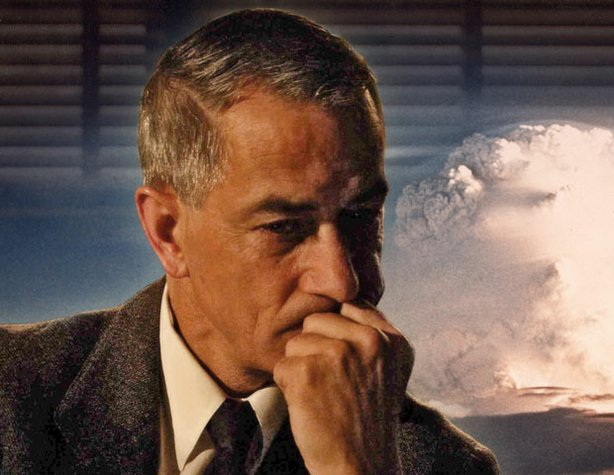 Academy Award-nominated actor David Strathairn, as J. Robert Oppenheimer, in ...